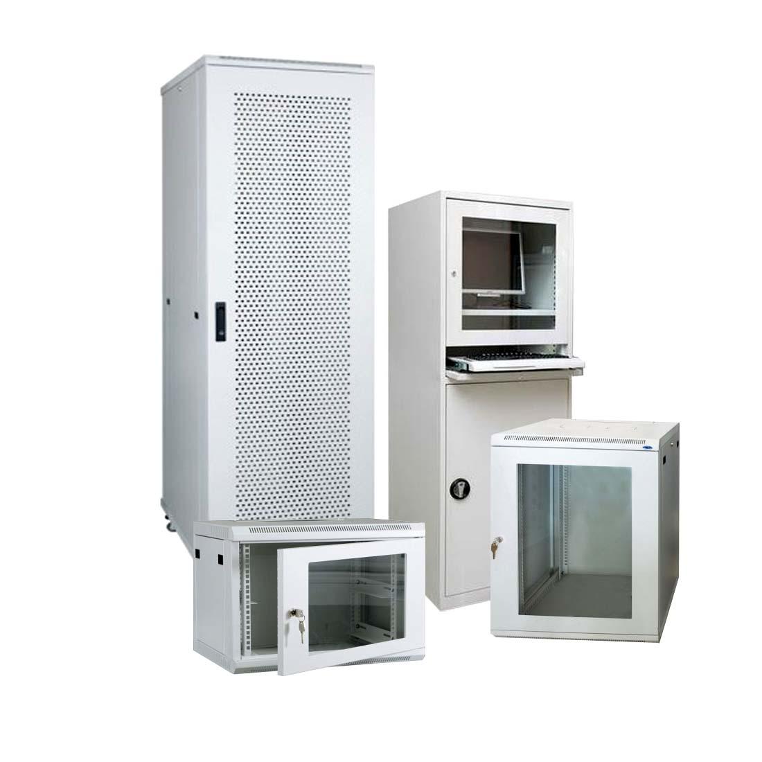 серверні шафи металеві, стійки монтажні