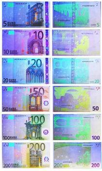Изображение Евро в ультрафиолетовом (УФ) свете